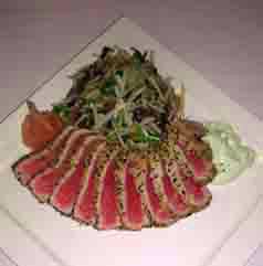 Sesame Crusted Tuna - 75 Main Restaurant Lounge Club, Southampton, Long Island, New York